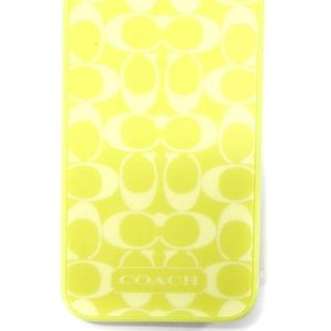 Coach Monogram Print Cell Phone Case Chartreuse 5
